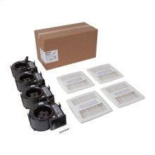 FLEX DC Series Bathroom Ventilation Fan with LED Light Finish Pack 50-110 CFM, ENERGY STAR certified