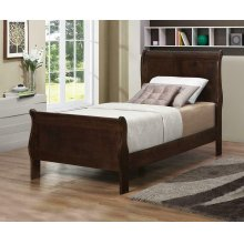 Louis Philippe Cappuccino Twin Sleigh Bed
