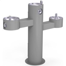 Elkay Outdoor Fountain Tri-Level Pedestal Non-Filtered, Non-Refrigerated Gray