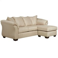 Signature Design by Ashley Darcy Sofa Chaise in Stone Microfiber