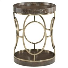 Clarendon Round End Table in Arabica (377)