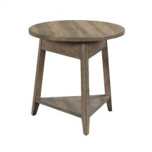 """Mill House 24"""" Bowler Round End Table"""