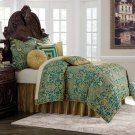 9 pc Queen Comforter Set Turquoise Product Image