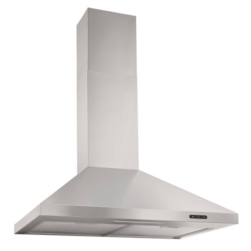 24-In. Convertible Wall Mount Chimney Range Hood with LED Light in Stainless Steel