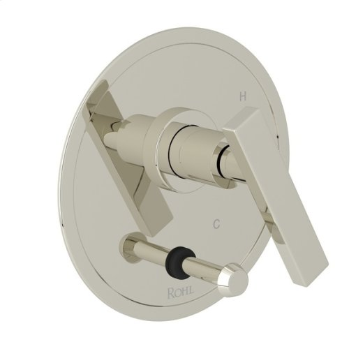 Polished Nickel Pirellone Pressure Balance Trim With Diverter with Metal Lever
