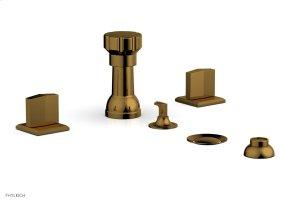 DIAMA Four Hole Bidet Set 184-60 - French Brass Product Image