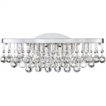 Bordeaux With Clear Crystal Vanity Light in Polished Chrome
