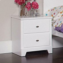 Ashton Transitional White Nightstand