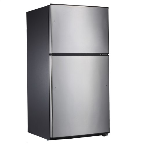 21 Cu. Ft. Top Mount Refrigerator, Stainless Steel