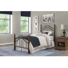 Madison Twin Bed Set With Rails