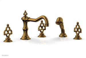 MAISON Deck Tub Set with Hand Shower 164-48 - French Brass Product Image