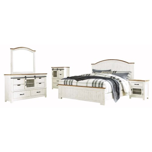 Wystfield - White/Brown 2 Piece Bedroom Set