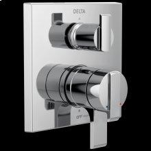 Chrome Angular Modern Monitor ® 17 Series Valve Trim with 3-Setting Integrated Diverter