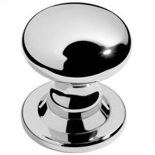 "Chrome Plate Centre door knob, 3 7/16"" rose diameter"