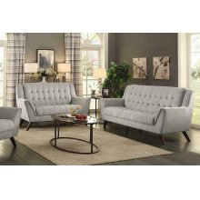 Baby Natalia Mid-century Modern Beige Two-piece Living Room Set