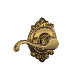 Callington Lever with Brookshire trim Hall & Closet Lock - Antique Brass Product Image