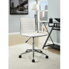 Modern White and Chrome Home Office Chair