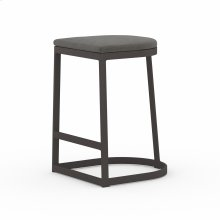 Counter Stool Size Charcoal Cover Val Outdoor Bar + Counter Stool, Washed Brown