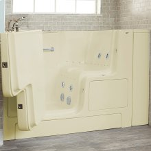 Gelcoat Premium Series 32x52 Outward Opening Door Combo Massage Walk-in Tub, Left Drain  American Standard - Linen