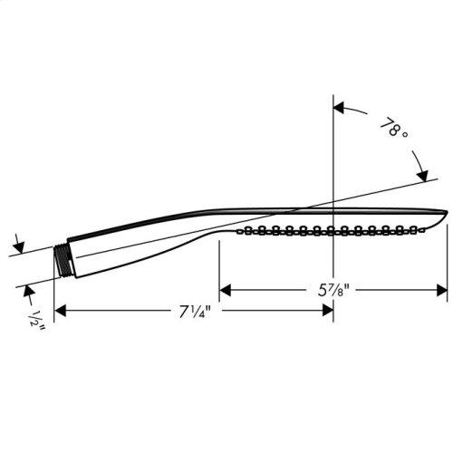 White/chrome Handshower 120 1-Jet, 2.5 GPM