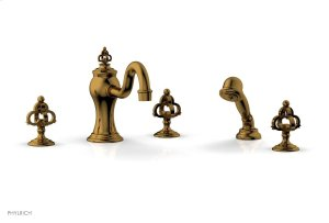 COURONNE Deck Tub Set with Hand Shower 163-48 - French Brass Product Image