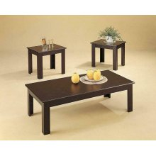 Casual Cappuccino Three Piece Table Set