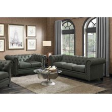 Roy Traditional Grey Two-piece Living Room Set