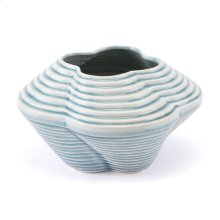 Twisted Sm Vase Blue