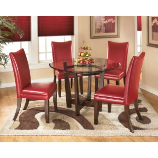 Charrell Red 5 Piece Dining Room Set