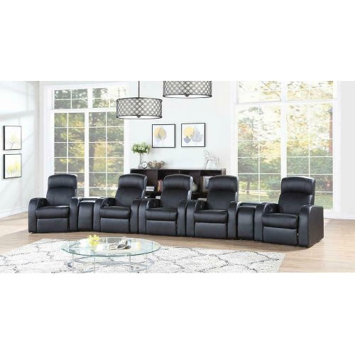 Cyrus Transitional Black Recliner Wedge