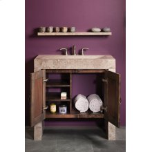 Siena Recesso Console Siena Silver Gray Marble / Vanity Cabinet Package