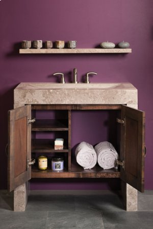 Siena Recesso Console Siena Silver Gray Marble / Vanity Cabinet Package Product Image