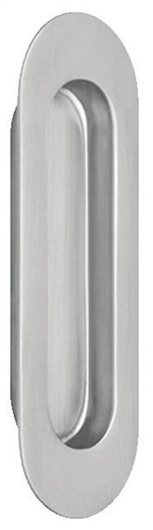 Modern Oval Flush Pull in (Modern Oval Flush Cup - Solid Stainless Steel) Product Image