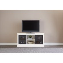 58 Inch Console - Snow/Black Finish