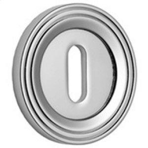 "Polished Nickel Lever lock concealed fix escutcheon, 1 1/2"" diameter"