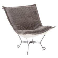 Scroll Puff Chair Angora Stone