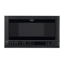 1.5 cu. ft. 1100W Sharp Black Over-the-Counter Carousel Microwave Oven