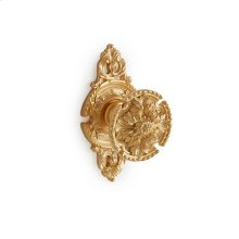 Antique Gold Mum Door Knob