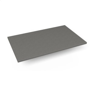 """Engineered Stone 31"""" X 19"""" X 3/4"""" Quartz Dry Vanity Top In Stone Gray Product Image"""