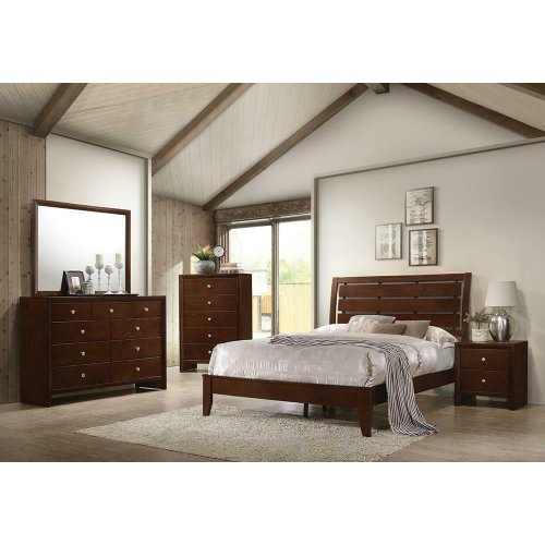 Serenity Rich Merlot California King Bed