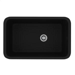 Matte Black Allia Fireclay Single Bowl Undermount Kitchen Sink Product Image