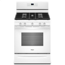 [CLEARANCE] 5.0 cu. ft. Freestanding Gas Range with Center Oval Burner White. Clearance stock is sold on a first-come, first-served basis. Please call (717)299-5641 for product condition and availability.