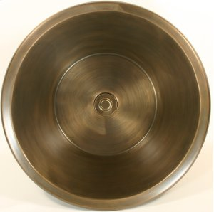 Bronze Round Flat Bottom Smooth Product Image