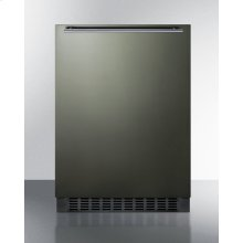 Built-in Undercounter All-refrigerator for Residential or Commercial Use, Frost-free W/black Stainless Steel Wrapped Door, Horizontal Handle, and Black Cabinet