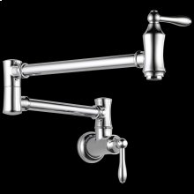 Chrome Traditional Wall Mount Pot Filler