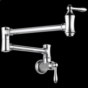 Chrome Traditional Wall Mount Pot Filler Product Image