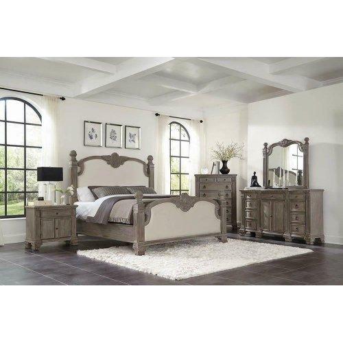 Jenna Vintage Grey Eastern King Bed