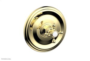 """HEX TRADITIONAL 1/2"""" Mini Thermostatic Shower Trim 4-097 - Polished Brass Product Image"""
