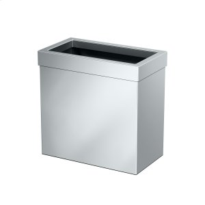 Rectangle Modern Waste Basket in Chrome Product Image