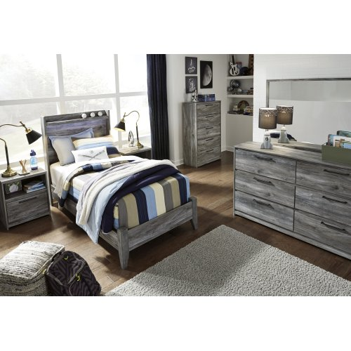 Baystorm - Gray 2 Piece Bed Set (Twin)